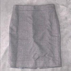 J crew grey pencil skirt